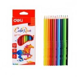 Deli Ξυλομπογιές Wood-Free 12 Χρώματα Colorun (231.940919)
